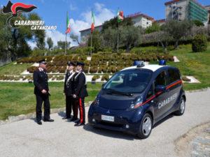 Catanzaro: Carabinieri vigileranno aree verdi con veicolo elettrico