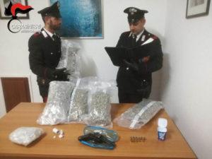 Droga e armi: scoperti marijuana e una pistola nel Reggino