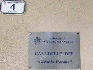 """Soveria Mannelli: inaugurata la """"casa delle idee"""" intitolata a Gerardo Marotta"""