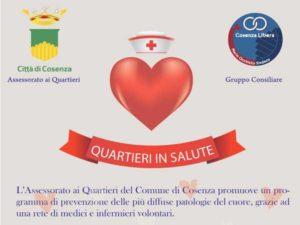 """Cosenza: parte domenica """"Quartieri in Salute"""""""