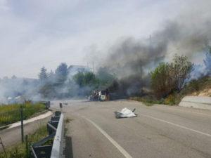 Ambulanza esplode nel Cosentino, nessun ferito