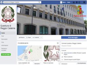 Polizia: su Facebook la pagina della Questura di Reggio Calabria