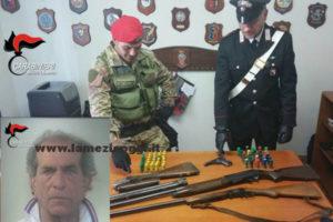 Armi: nascondeva fucile e pistola, un arresto nel Reggino