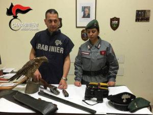 Caccia: arrestati ad Archi di Reggio tre bracconieri
