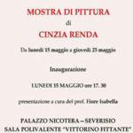 Lamezia: a Palazzo Nicotera le opere di Cinzia Renda