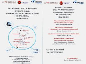 Comunicazione: Conferenza annuale Corecom Calabria