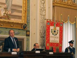 Provincia Cosenza: in Consiglio le comunicazioni di Franco Iacucci
