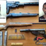 Armi: mitra e fucili in cantina, due arresti a Reggio Calabria