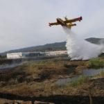 Rende: quasi spento l'incendio presso l'ex Legnochimica