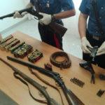 Armi: fucili e pistole in camera da letto, arrestato a Lamezia