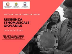 Isca sullo Jonio: prima residenza etnomusicale giovanile