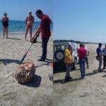 Allerta per un vecchio scaldabagno sulla spiaggia di Sellia Marina