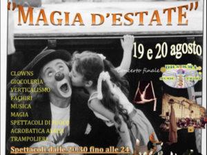"""Magia d'estate"", a Pianopoli festival di arte di strada e musica"