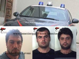 Furti: tre persone arrestate a Reggio Calabria dai Carabinieri