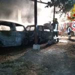 Incendio in deposito giudiziario: danneggiate 2 auto e un furgone