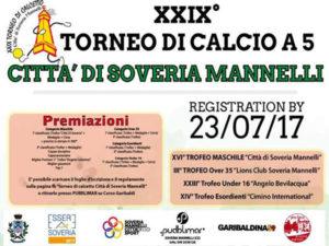 Calcio: al via il XXIX torneo di calcetto a Soveria Mannelli