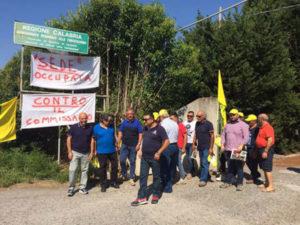 No commissariamento Consorzio Alto Jonio Reggino, protesta