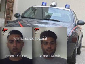 Viaggiavano con pistola e passamontagna, due arresti nel Reggino