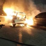 Tre auto in fiamme nella notte a Catanzaro
