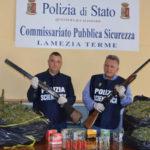 Droga: armi e marijuana, arrestati zio e nipote a Lamezia
