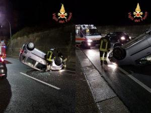 Incidenti: Catanzaro, Opel Agila si ribalta in Viale de Filippis