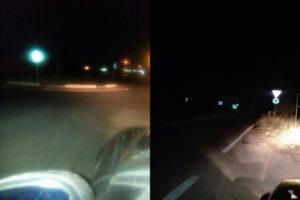 """Corigliano: Vena( Fidelitas) """"le due rotonde stradali al buio"""""""