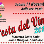 """Lamezia: torna la """"Festa del vino"""" dell' associazione San Nicola"""