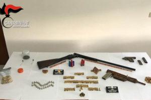 Armi e munizioni nascoste in un casolare nel Reggino, un arresto