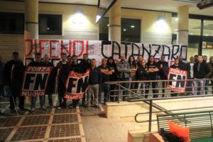 Catanzaro: Forza Nuova presidia stazione quartiere Lido