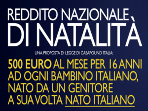 Lamezia: raccolta firme per pdl 'Reddito Nazionale di Natalità'
