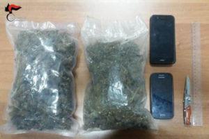 Droga: due minori fermati nel Reggino, avevano 1 kg di marijuana