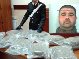 Droga: 11 kg di marijuana in auto, un arresto nel Reggino