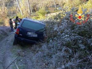 Catanzaro: auto fuori strada a causa del giaccio