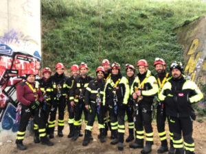 Catanzaro: addestramento del nucleo speleo alpino fluviale