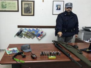 Caccia: una denuncia a San Vincenzo La Costa, sequestrato fucile