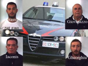 Sicurezza: controlli Carabinieri Gioia Tauro, 4 persone arrestate