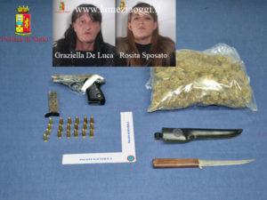 Armi e droga in casa, madre e figlia arrestate a Gioia Tauro