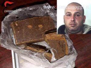 Trovato con droga dopo tamponamento 36enne arrestato