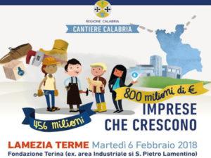 """Regione: """"Cantiere Calabria"""", il 6 arriva De Vincenti"""