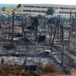 Migranti: incendio tendopoli nel Reggino, aggrediti giornalisti