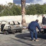 Cadavere carbonizzato in un'auto incendiata a Reggio Calabria