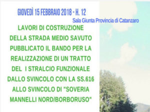 Infrastrutture: strada Medio Savuto, pubblicato bando