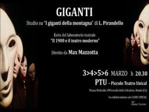 """I """"giganti"""" di Max Mazzotta al piccolo teatro Unical"""