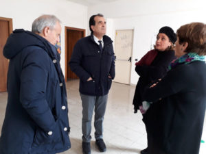 Catanzaro: Bruno visita  biblioteca provinciale allagata