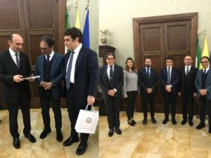 Comune Catanzaro: ambasciatore Azerbaijan a Palazzo de Nobili