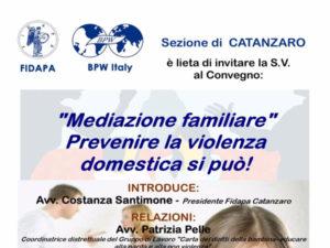 """""""Mediazione familiare"""": prevenire la violenza domestica si può!"""