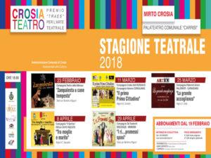 Crosia: si alza il sipario stagione teatrale premio Traes