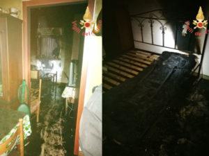 Farlerna: incendio in abitazione località Torre Lupo