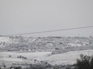 Maltempo: neve nel Vibonese, disagi nelle aree interne