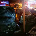 Lamezia: tre auto distrutte da un incendio in piazza Kennedy